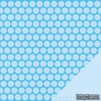 Лист двусторонней бумаги от American Crafts - Pebbles Paper - New Addition Boy - Little Prince