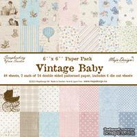Набор бумаги от Maja design - Vintage Baby Paper stack 6x615х15 см, 48 листов + 6 листов высечек