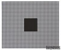 Альбом для скрапбукинга от American Crafts - Cloth D-Ring - Black & White Houndstooth, 30х30 см