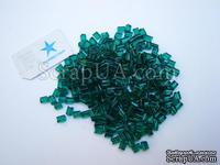 Краска рельефная по стеклу в гранулах, 5 гр (обжигается в домашней духовке), цвет: зеленый