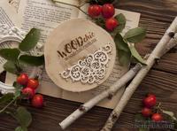 "Чипборд от WOODchic - ""Бордюр с цветками"", 10x5.2 см"