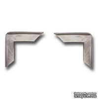 Набор металлических уголков 7 Gypsies - Antique Silver, 4 штуки