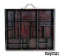 Заготовка для декорирования 7Gypsies - Letterblock Tray - Stained Wood,  26х31 см.