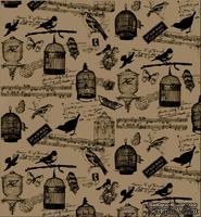 Папиросная бумага с рисунком 7 Gypsies Collage Tissue - Birdsong