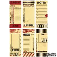 Бумажные украшения - Набор винтажных билетиков 7 Gypsies -Journal Tickets