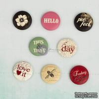 ЦЕНА СНИЖЕНА! Деревянные пуговицы Prima - Everyday Vintage - Flair Buttons