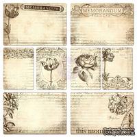 ЦЕНА СНИЖЕНА! Набор карточек от Prima - Everyday Vintage Pocket Paintables Cards - #2 - Memorandum, 16 шт