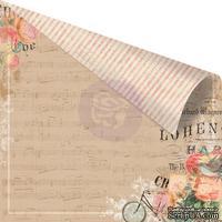 Двусторонний лист бумаги от Prima - Something Blue - Love Melodies, 30х30 см.