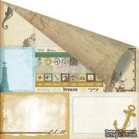 Лист скрапбумаги от Prima - Seashore - Sea Memories, 30х30 см