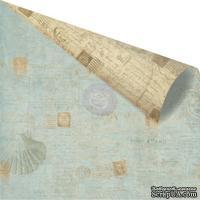Лист скрапбумаги от Prima - Seashore- Shell Postage, 30х30 см
