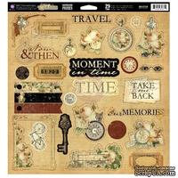 Лист наклеек из чипборда Prima - Time Traveler's Memories - Chipboard Pieces