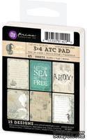 "Набор карточек от Prima - Seashore 3x4"" ATC Card Pad, 45 шт."