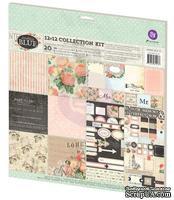 Набор бумаги от Prima - Something Blue- Collection Kit, 30 x 30 см.