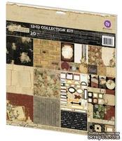 Набор бумаги от Prima - Time Traveler's Memories- Collection Kit, 30 х 30 см, двусторонняя