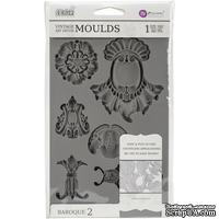 Молды силиконовые от Prima - Iron Orchid Designs Vintage Art Decor Mould - Baroque 2 - ScrapUA.com