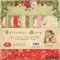 Набор скрапбумаги от Craft and You Design - Christmas Story,  15х15 см, CBP-CS15, 36 листов