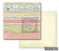 ЦЕНА СНИЖЕНА! Лист скрапбумаги Prima - Jack and Jill- Green Fields, 30х30см