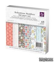 Набор бумаги от Prima - 6x6 Paper Pad - Bohemian Bamboo, размер: 15x15см, 48 листов
