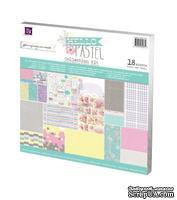 ЦЕНА СНИЖЕНА! Набор бумаги от Prima - Hello Pastel Collection Kit, размер: 30х30см, 18 листов