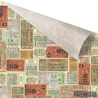 Лист двусторонней скрапбумаги от Prima -  Allstar Paper- Series Tickets