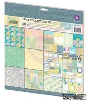 ЦЕНА СНИЖЕНА! Набор бумаги от Prima - Free Spirit- Free Spirit- Collection Kit, 30 х 30 см, двусторонняя