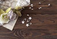 Чипборд от WOODchic - Набор булавок со звездочками