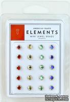 Набор брадс от American Crafts - Mini Jewel Brads