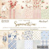 Набор бумаги от Maja design - Summertime - By the Sea (голубая серия), 30х30 см, 9 листов