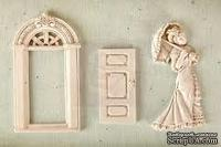 Набор гипсовых украшений от Prima - Shabby Chic Resin Treasures Parlor, 3 шт.
