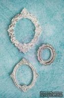 Гипсовые украшения от Prima - Ingvild Bolme- Oval Frame Resins, 3 шт