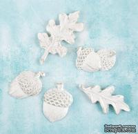 Набор украшений от Prima Marketing - Shabby Chic Treasures Resin Embellishments -  Fall, 5 шт