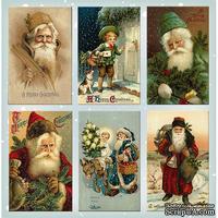 Набор картинок для декорирования Фабрика Декора - Санта клаусы №2
