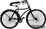 Акриловый штамп ''Юношеский велосипед''
