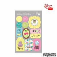 Высечки для скрапбукинга, самоклеющие от ROSA TALENT - Cake delicious 2, картон, 12,8х20см