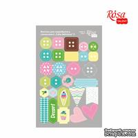 Высечки для скрапбукинга, самоклеющие от ROSA TALENT - Cake delicious 3, картон, 12,8х20см