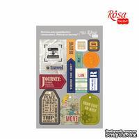 Высечки для скрапбукинга, самоклеющие от ROSA TALENT - Make your journey 1, картон, 12,8х20 см