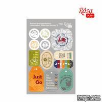 Высечки для скрапбукинга, самоклеющие от ROSA TALENT - Make your journey 2, картон, 12,8х20см