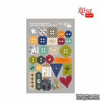 Высечки для скрапбукинга, самоклеющие от ROSA TALENT - Make your journey 3, картон, 12,8х20см