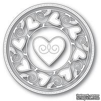 Ножи от Memory Box - Pinpoint Heart Circle Frame craft die