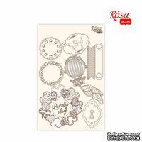 Чипборд для скрапбукинга от ROSA TALENT - Floral Poem 4, белый картон, 12,8х20см