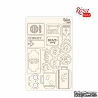 Чипборд для скрапбукинга от ROSA TALENT - Make your journey 2, белый картон, 12,8х20см