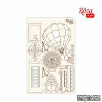 Чипборд для скрапбукинга от ROSA TALENT - Make your journey 4, белый картон, 12,8х20см