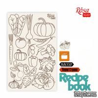 Чипборд для скрапбукинга от ROSA TALENT - Recipe book 3, белый картон, 12,6х20 см