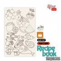 Чипборд для скрапбукинга от ROSA TALENT - Recipe book 4, белый картон, 12,6х20 см