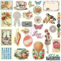 ЦЕНА СНИЖЕНА! Набор наклеек из чипборда Prima - Chipboard Stickers Divine