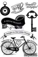 ЦЕНА СНИЖЕНА! Набор резиновых штампов от Prima - Delight - Cling Mounted Stamp