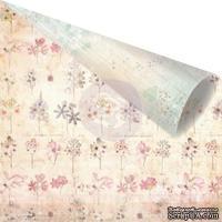 Лист двусторонней скрапбумаги от Prima - Princess - Lily, 30х30см, 1 шт.