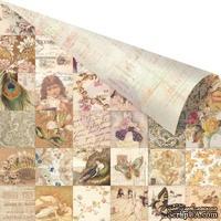 ЦЕНА СНИЖЕНА! Лист  двусторонней скрапбумаги от Prima - Princess- Collage, 30х30, 1 шт.