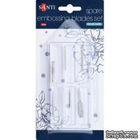 Набор наконечников для тиснения, изготовления цветов и резки для макетного ножа TM Santi, 6 штук