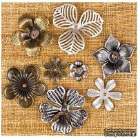 Металлические украшения Prima - Finnabair Vintage Mechanicals Metal Trinkets - Mini Flowers